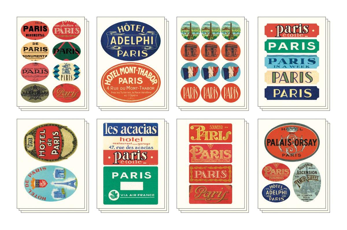Cavallini Decorative Stickers Paris Assorted