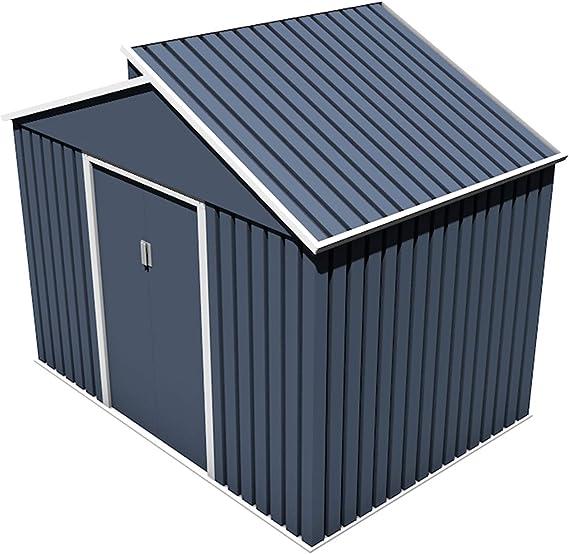 Gardiun KIS12987 - Caseta Metálica Windsor 5, 44 m² Exterior 193x282x222 cm Acero Galvanizado Gris Antracita: Amazon ...