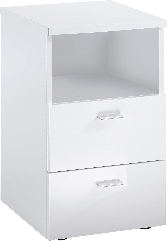 Blanc 35x40x61,5 cm FMD Moebel Colima 1 Up Bois