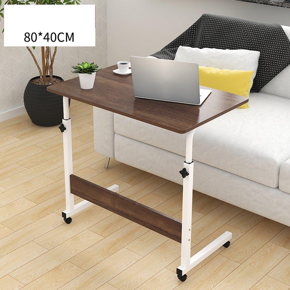 FEIFEI 調整可能なオーバーベッド/椅子テーブル可動ベッドサイドテーブル高さ調節可能なラップトップテーブル怠惰なコンピュータスタンド多機能テーブル (色 : B, サイズ さいず : 80*40cm) B07F5KBRZ6 80*40cm|B B 80*40cm