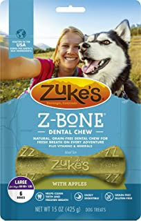 product image for Zuke's Z-Bone Dog Dental Chew with Apples, Large, 6 Count, 4 Pack