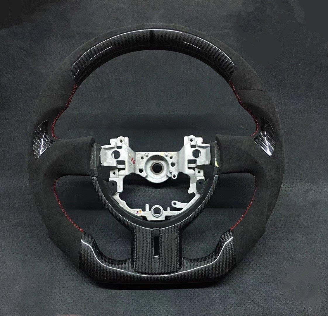 トヨタ 86 ZN6 / スバル BRZ ZC6 カーボン&スエード ステアリングハンドル 純正加工 前期 即納品 最強カスタマイズ!!! B07CZXMWQW  - -