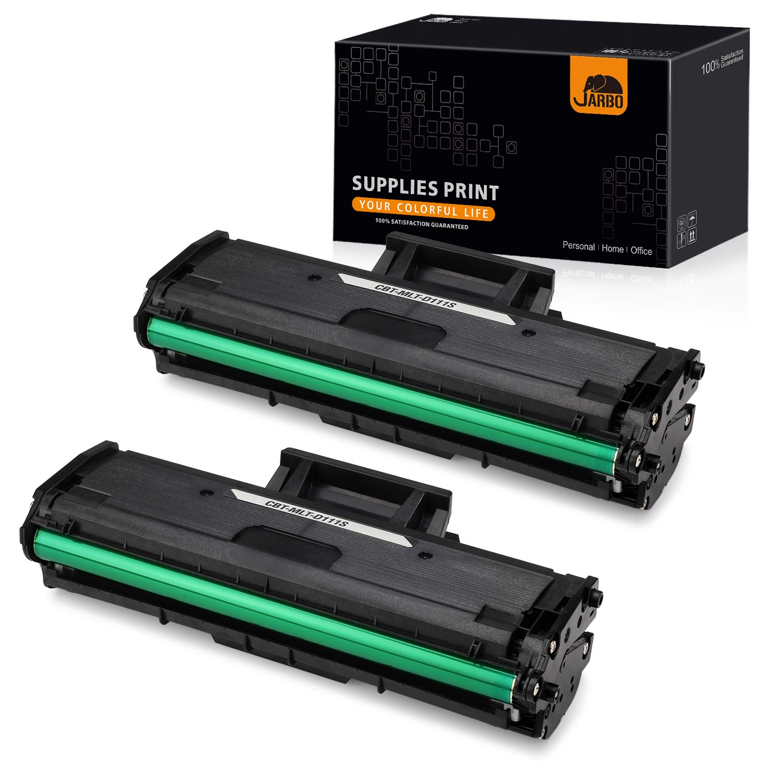 JARBO Compatible Toner Replacement for Samsung MLT111S MLT-D111S MLTD111S D111S, High Yield, 2 Black, Use with Samsung Xpress M2020W, Samsung Xpress M2070FW, Samsung Xpress M2070W Laser Printer by JARBO