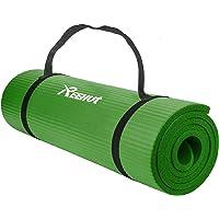Reehut Gymnastiekmat, yogamat, 12 mm, NBR (nitrilbutadieenrubber), met draagriem, extra dik, antislip, ftalaatvrij…