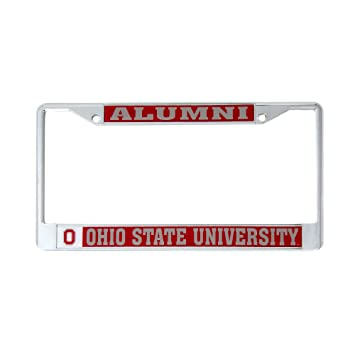 Desert Cactus Ohio State University Alumni Metal License Plate Frame for  Front Back of Car Officially Licensed OSU Buckeyes