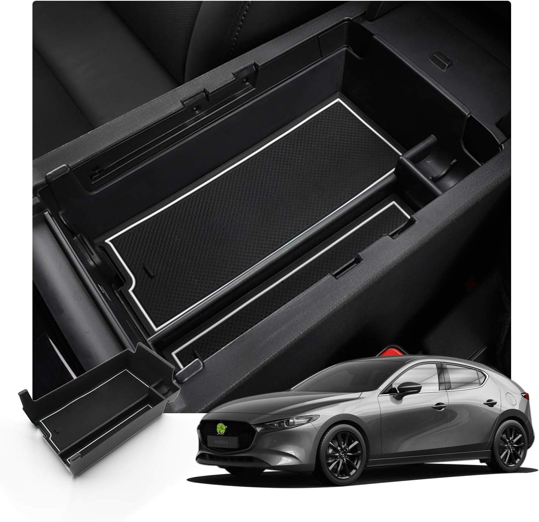 Ruiya Ruiya Aufbewahrungsbox Aufbewahrungskiste Mittelkonsole Veranstalter Armlehne Box Organizer Für 2019 Mx 3 Weiß Auto