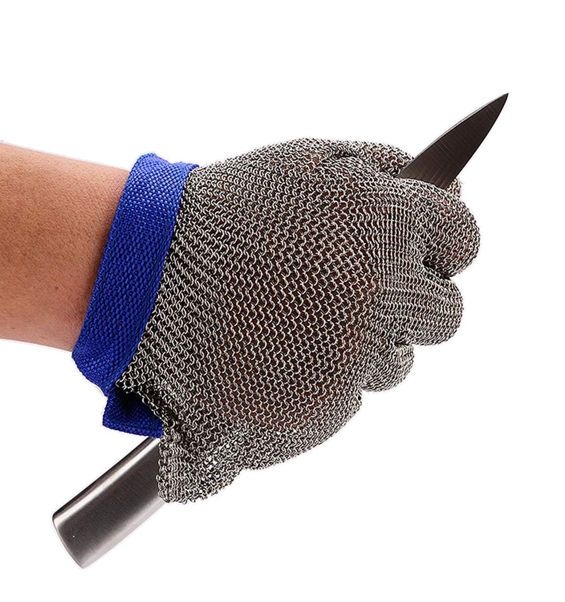 Stainless Steel Chain Mail Cut Proof Stab Resistant Butcher Glove Safety Work Glove, Size Large by CPTDCL (Image #1)