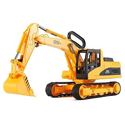 AITING Oversized Construction Excavator Truck Toy for Kids with Shovel Arm Claw: Toys & Games