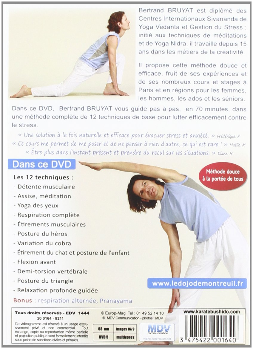 Le Yoga   Méthode anti stress  Amazon.fr  Bertrand Bruyat  DVD   Blu-ray 96b565f6a73