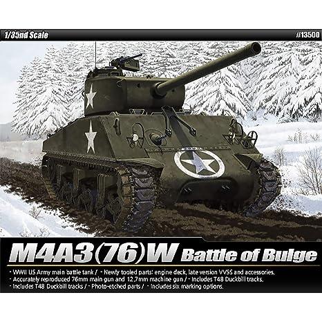 Amazon com: Academy 13500 M4A3 (76) W Battle of Bulge, 1/35