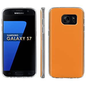 Samsung Galaxy [S7] Phone Case [ArmorXtreme] [Clear] Designer Image [Flexi Gel TPU] - [Tangerine] for Samsung Galaxy S7 / GS7