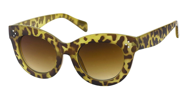 Sonnenbrille Cat Eye Stil Damen Rahmen dick Vintage getönt 400UV ...