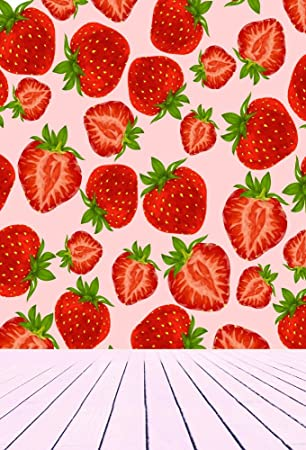 Amazon Com Ofila Vinyl Photography Background 5x7ft Strawberry Fruits Wallpaper Strips Floor Backdrop Studio Props Portraits Photos Children Baby Kids Camera Photo