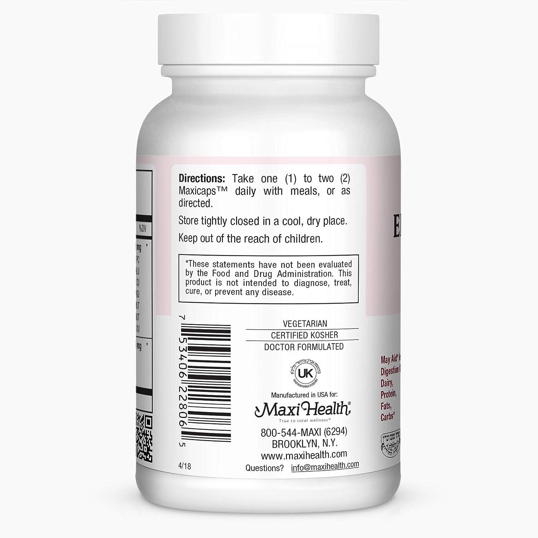 Amazon.com: Maxi Salud Premium Enzymax Complejo Digestivo ...