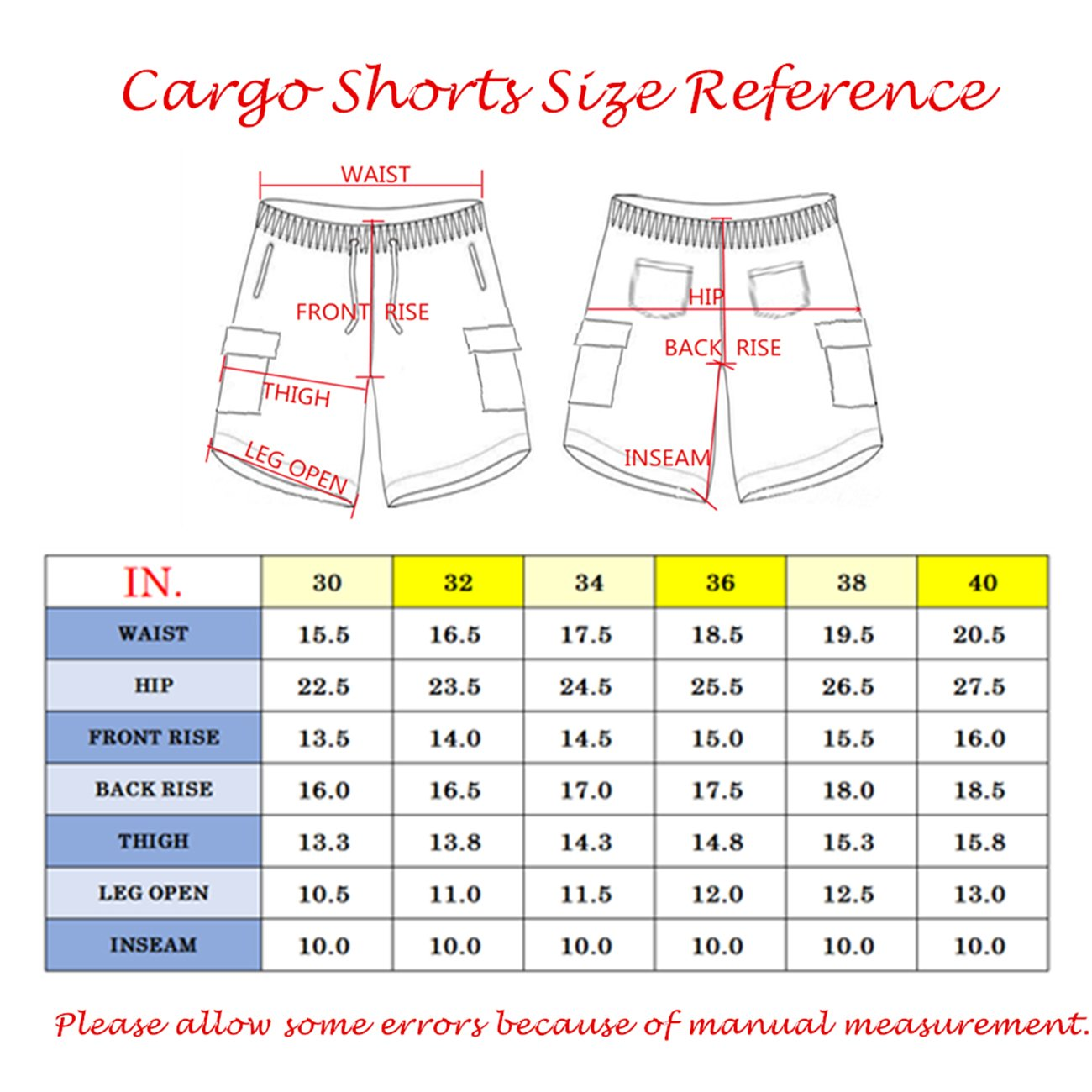 Tanbridge Men's Cotton Cargo Shorts with Pockets Loose Fit Outdoor Wear Twill Elastic Waist Shorts Grey 36 by Tanbridge (Image #4)