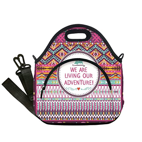 d3355f77bb79 Amazon.com: Insulated Lunch Bag, Neoprene Lunch Tote Bags, Ethnic ...