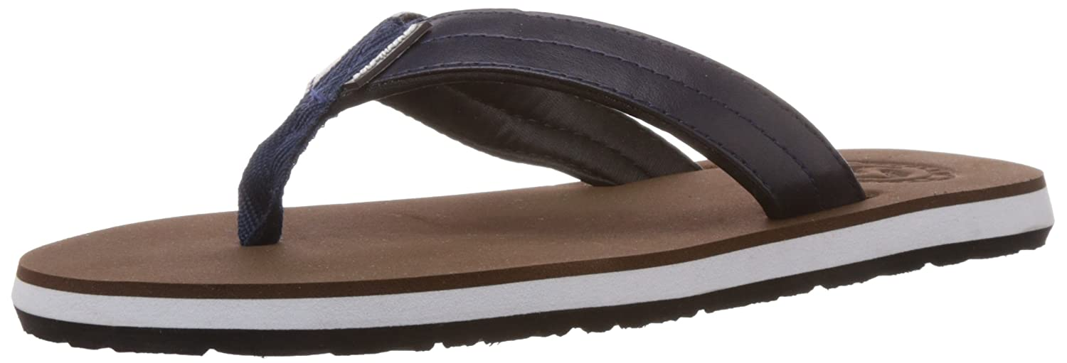 f1830dc4a Sole Threads Men s Swoosh Brown and Navy Flip Flops Thong Sandals - 10 UK  (8911102460)  Buy Online at Low Prices in India - Amazon.in