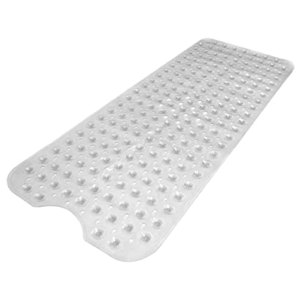 Bath Shower Non Slip Extra Long Mat Suction Grip Machine Washable