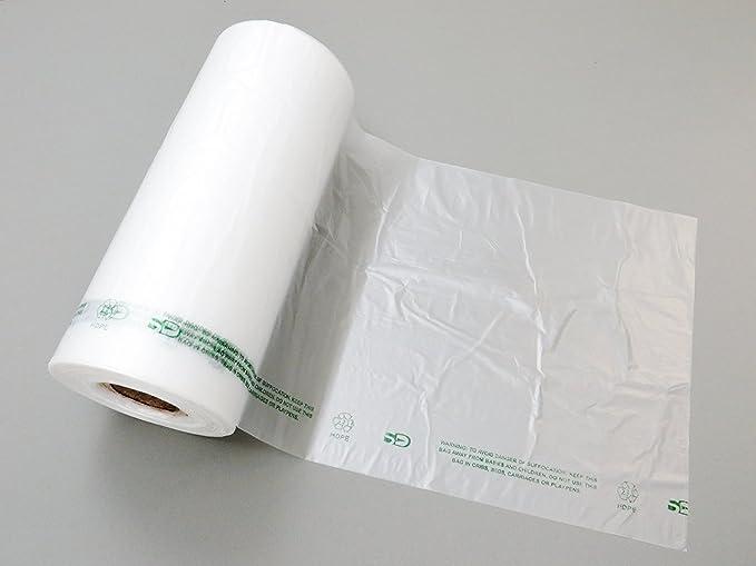Amazon.com: Plástico bag-clear HDPE produce rollos 10