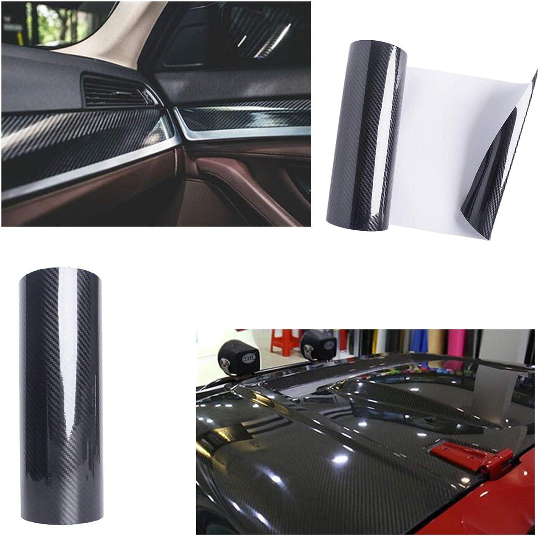Blu, 300x30 cm Foglio Pellicola Rivestimento Adesivo di Vinile STARPIA 6D Pellicola Adesiva per Auto Car Sticker Wrap Impermeabile pour Auto Moto 6D Pellicola Fibra Carbonio Adesiva