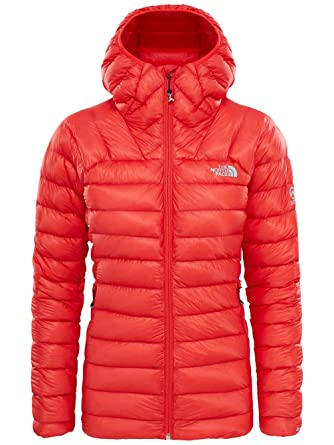 ca3f75077fbe The North Face Summit L3 Down Hooded Women s Puffer Jacket (M) Fiery Red