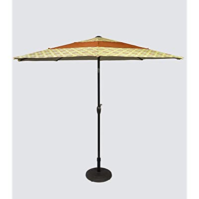 Pebble Lane Living 9' 3 Tiered Patio Market Umbrella with Tilting and Crank Functions- Red: Garden & Outdoor