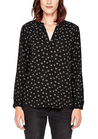 s.Oliver RED LABEL Damen Viskose-Bluse mit Muster Black AOP 32  s ... c638b462a1