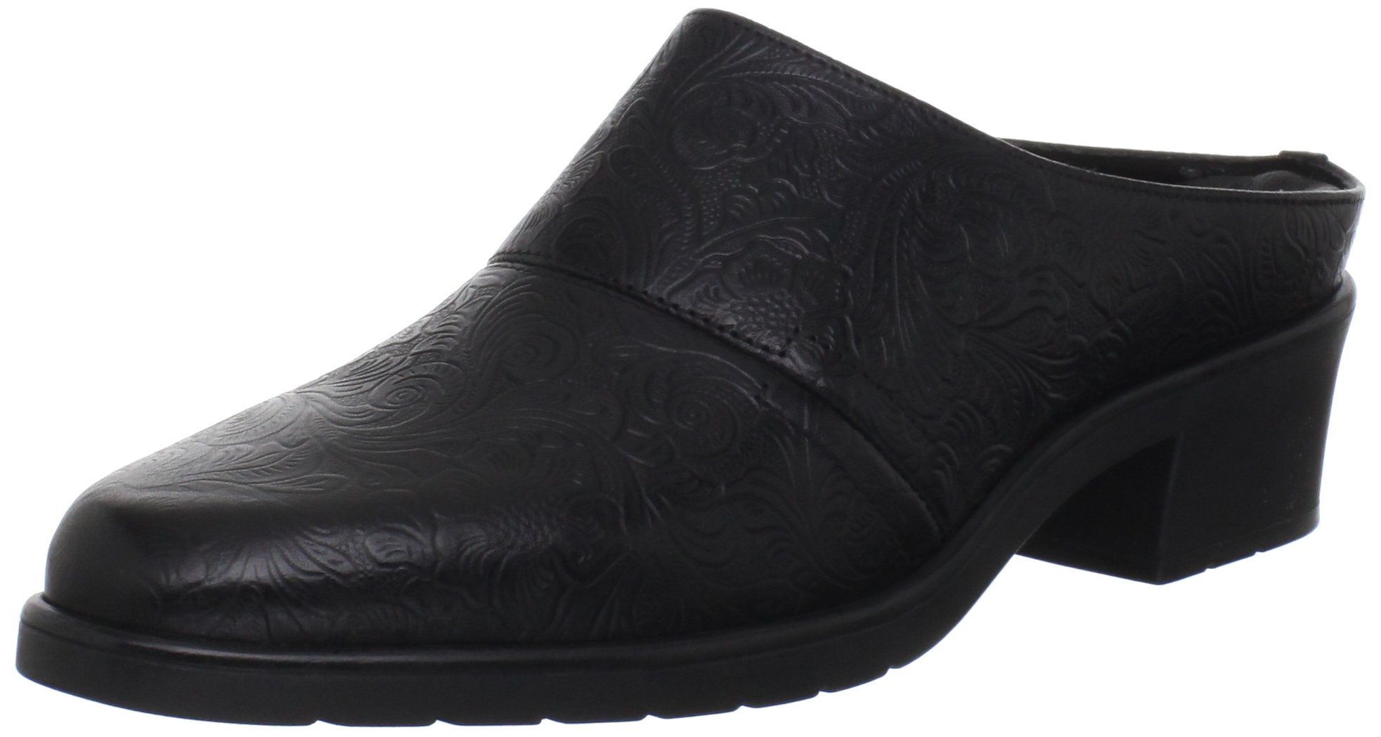 Walking Cradles Women's Caden Clog,Black Leather,9 M US by Walking Cradles