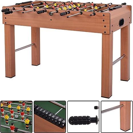 Costway 4 ft futbolín fútbol fútbol Arcade Game Marco de Madera Juguete w/Bolas: Amazon.es: Deportes y aire libre