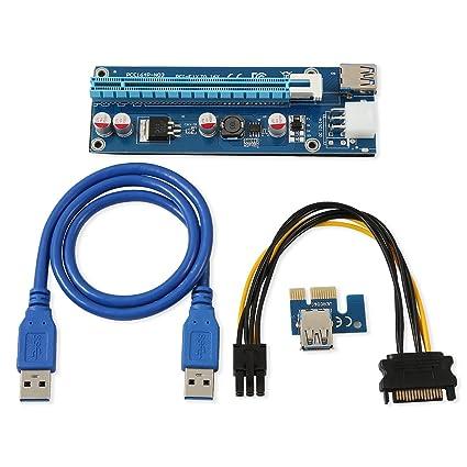PCI-E Adapter SATA USB 3.0 1x to 16x for Mining Ethereum Multi GPU Riser PCIe
