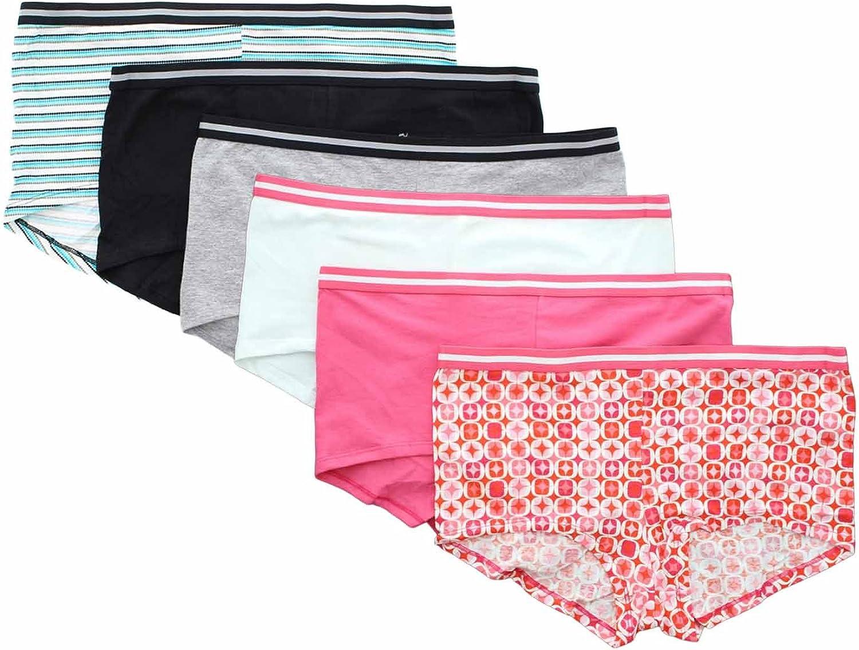 Hanes Invisible Premium /& Sporty Cotton-Blend Boyshorts Extended Sizes