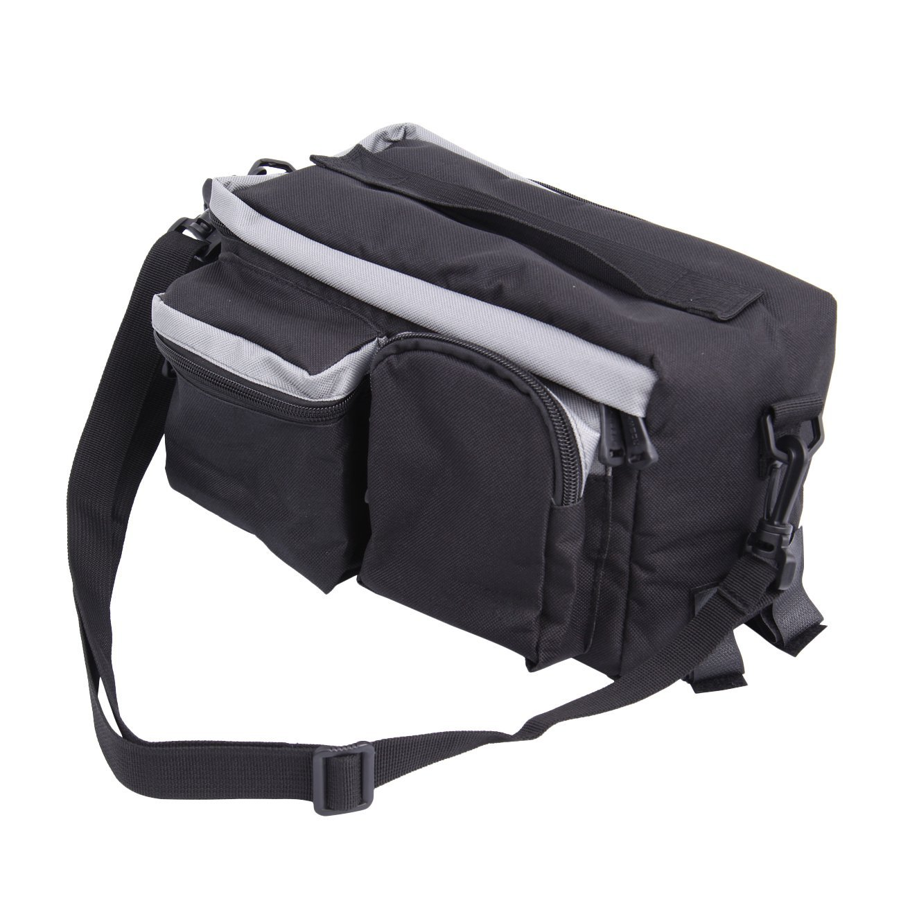 PanelTech Bicycle Cycling Sport Rear Rack Seat Trunk Bag Bike Mountain Handbag Storage Expanding Carry Strap Portable Shoulder Saddle Bag with Water Holder