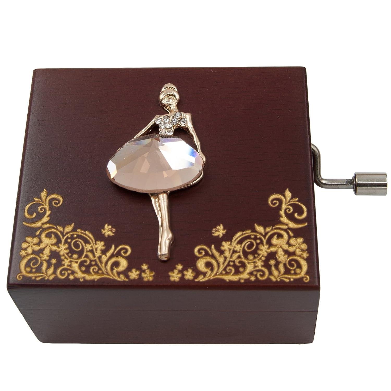 Wingostore Mini Handcrank Music Box Tune of Fur Elise(Ballerine)