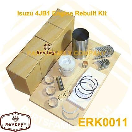 NEWTRY 4JB1 Kit de motor reconstruido para Isuzu Pickup Bobcat Loader Excavator