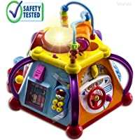 WolVol Musical Activity Cube Play Center with Lights, 15 Functions & Skills - Great Gift Toys for the Little Ones