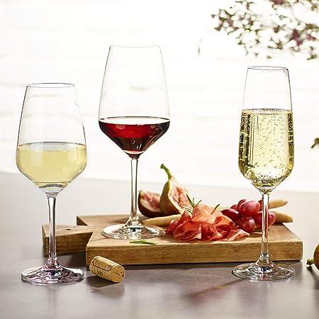 Villeroy & Boch Group Vivo Voice Basic Juego de vasos de vino tinto, Set de 4, 497 ml, Cristal, Trasparente