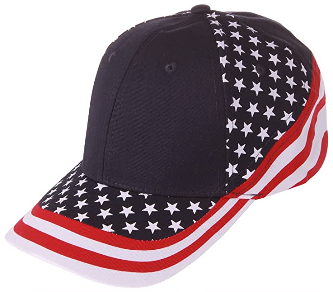 5eb1b356c16fb Enimay USA Baseball Foam Front Mesh Back Trucker Hats 7650A One Size ...
