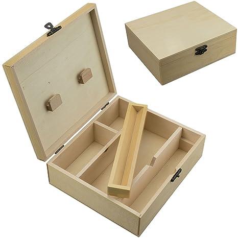 Caja de Cigarrillo Fumadores de madera Rolling bandeja de fumar tabaco Stash rapé Big acabado barnizado