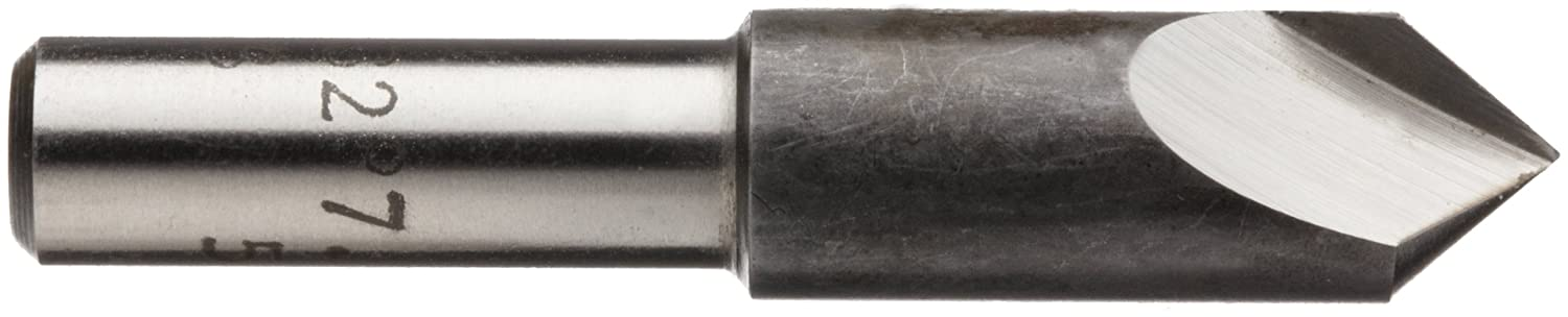 Bright Single Flute 82 Degrees Magafor 424 Series Cobalt Steel Single-End Countersink Uncoated 0.25 Shank Dia. Round Shank Finish 0.313 Body Dia.