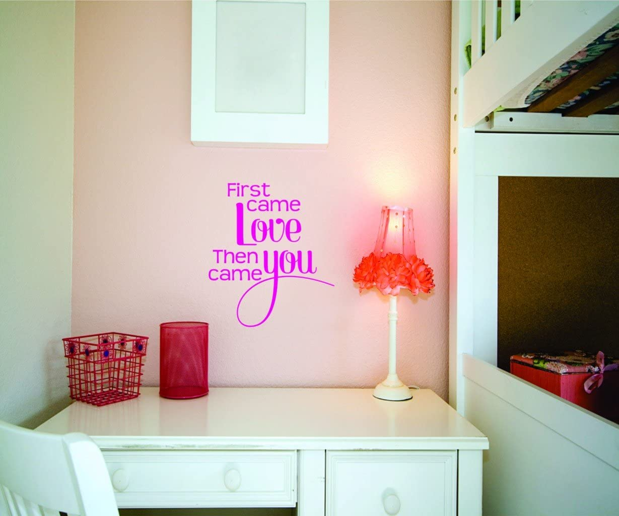 Amazon Com First Came Love Then Came You Picture Art Living Room Peel Stick Sticker Vinyl Wall Decal Size 20 Inches X 20 Inches 22 Colors Available Kitchen Dining