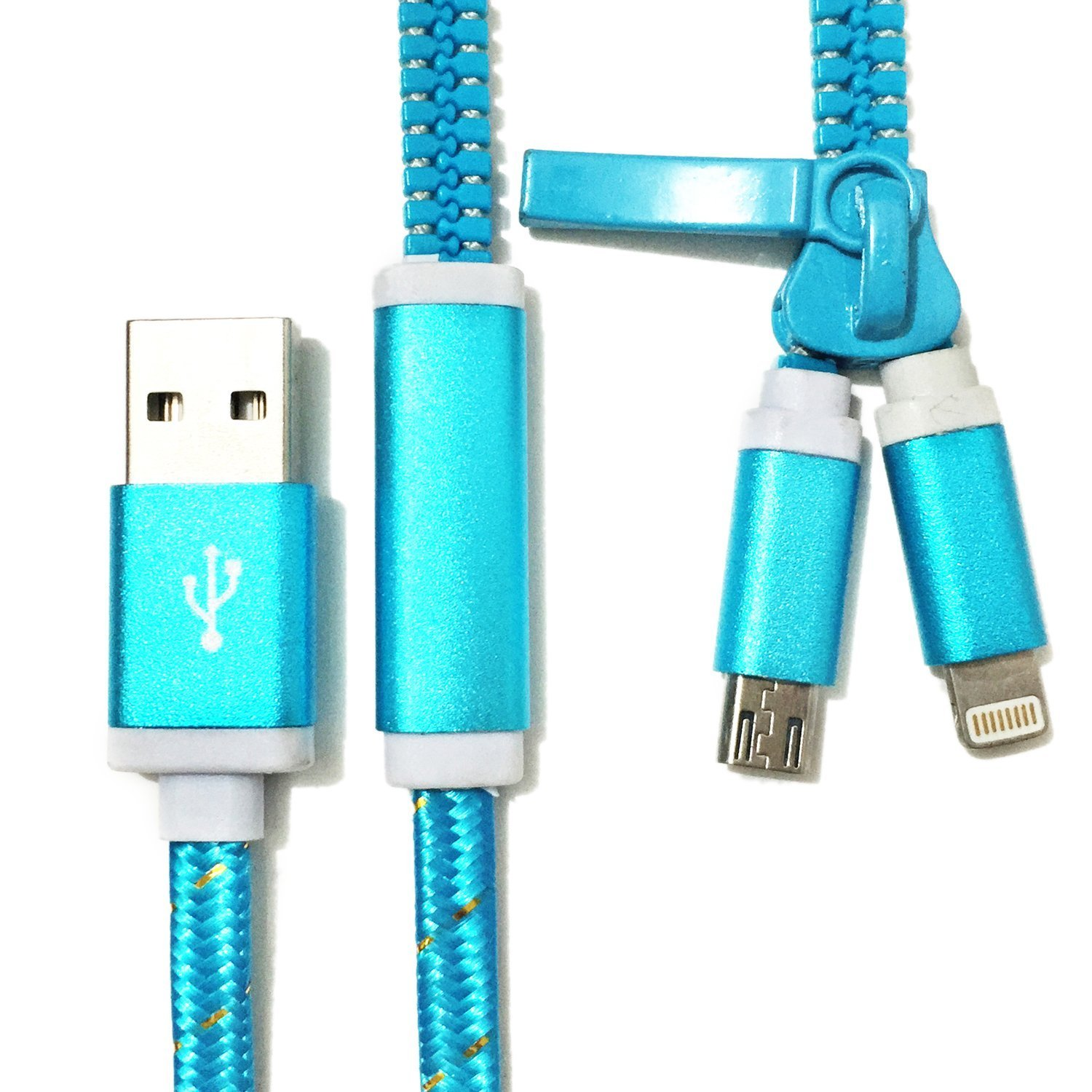 2 in 1, MYLB USB Dual Zip USB Charger Cable for iPhone: Amazon.co.uk ...