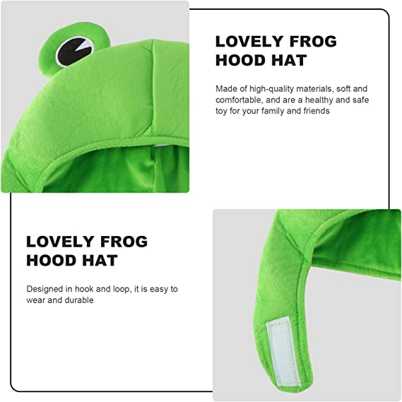 4 Cute Plush Frog Hat Winter Scarf Cap Ears Winter Ski Hat Full Headgear Novelty Party Dress up Cute Frog Hat Costume Green Hong TTH