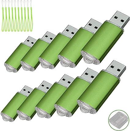 Paquete con 10 memorias USB. Pen Drive USB 2.0 (8GB): Amazon.es ...
