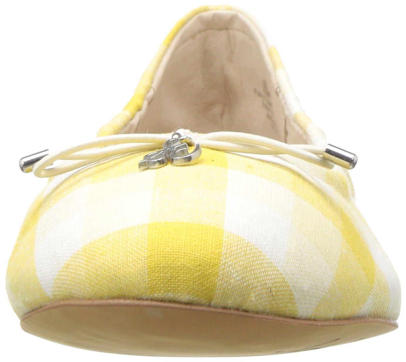 Sam Edelman Women's Felicia Ballet Flat B078HFL9NM 6 B(M) US Yellow/Multi Gingham