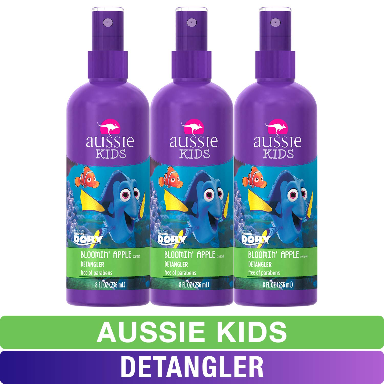 Aussie Kids Detangler, Finding Dory, Bloomin' Apple, 8 fl oz, Pack of 3 (Packaging may vary)