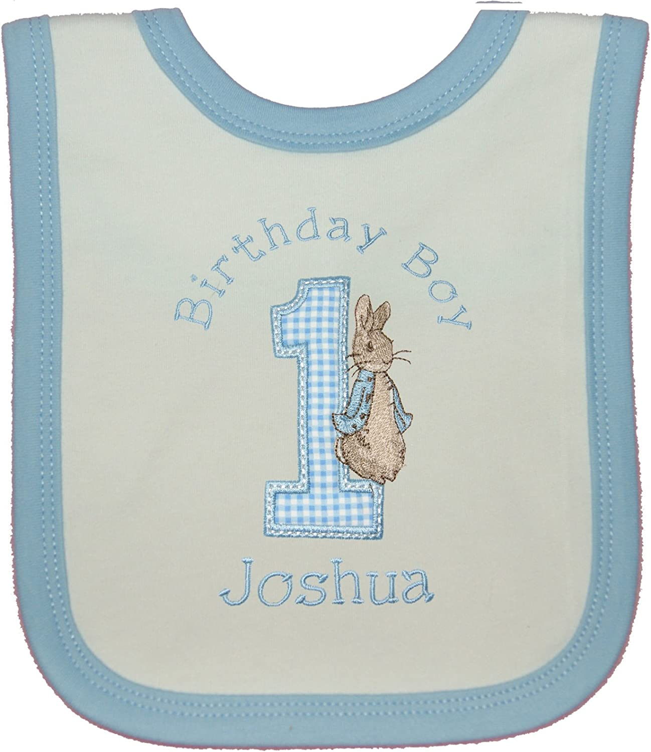 Embroidered with any name Personalised Boys//Girls Birthday Party Bib Keepsake