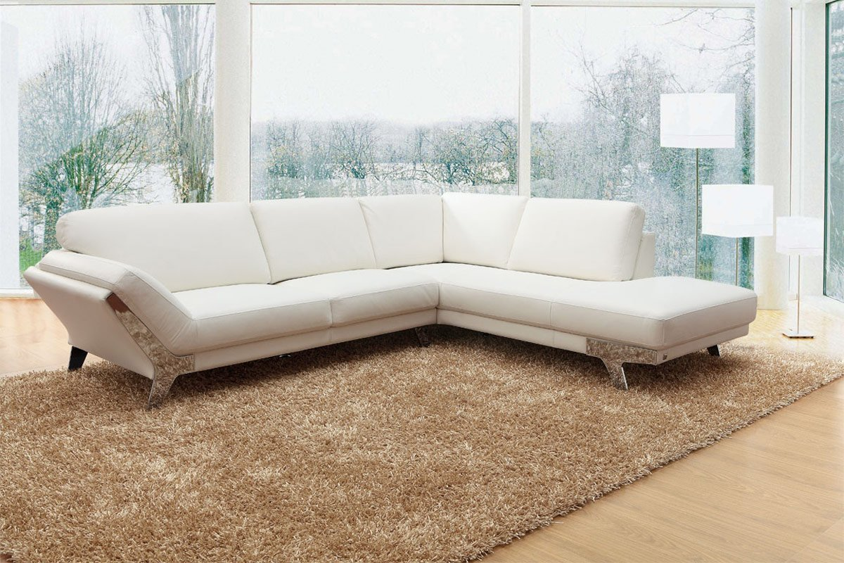 Magnificent Amazon Com 533 Modern White Italian Leather Sectional Andrewgaddart Wooden Chair Designs For Living Room Andrewgaddartcom