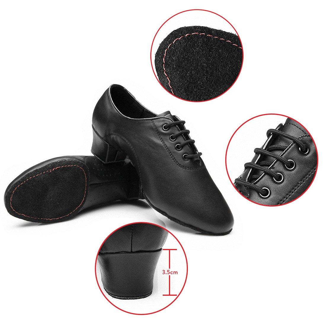 MQ Hombres de Jazz Latina Zapatos de Baile Negro Suave Parte Inferior Zapatos de Baile Moderno Zapatos de Baile 44,5 EU Hombre