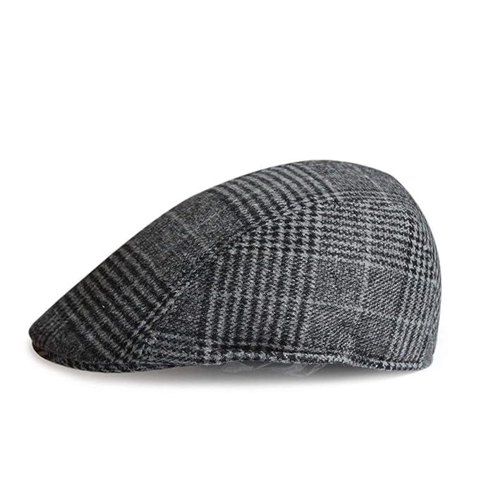 French Hats for Men Women Wool Tweed Cap Vintage Plaid Flat Painters Winter  Autumn Newsboy Beret 816fa0e1374