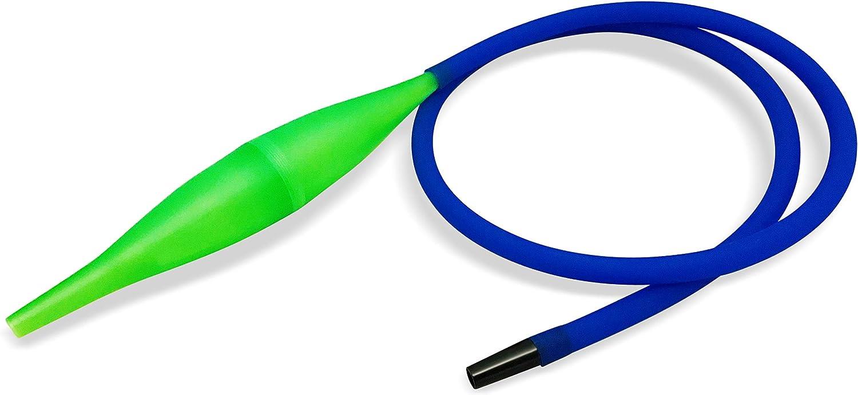 ICE BAZOOKA | Shisha | Pipas de Agua | Manguera de silicona | Conector pieza y manguera, Azul, Verde